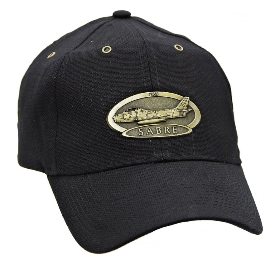 F-86 Sabre Airplane Cap with Brass Emblem