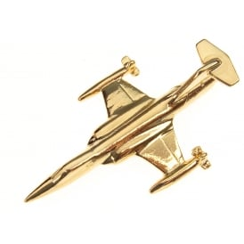 F104 Starfighter Boxed Pin - Gold