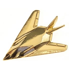 F117 Stealth Boxed Pin - Gold