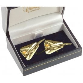 F14 Tomcat Cufflinks - Gold Plated
