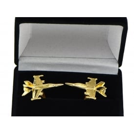 F18 Hornet Cufflinks - Gold Plated