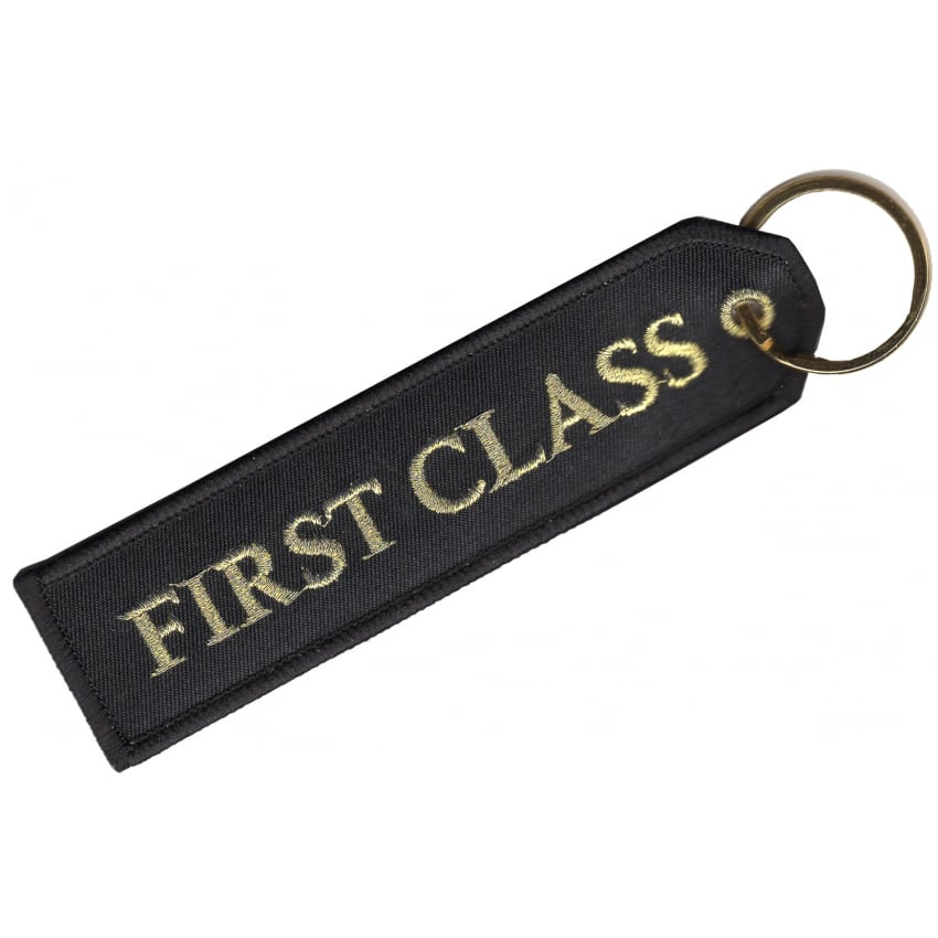 First Class Embroidered Keyring