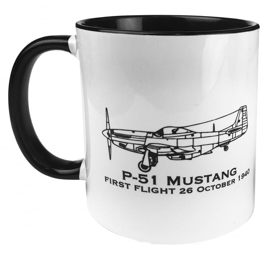 First Flight P-51 Mustang Mug