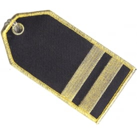 First Officer 2 Stripes Embroidered Baggage Tag