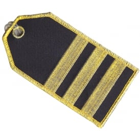 First Officer 3 Stripes Embroidered Baggage Tag