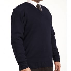 Flat Knit Pilot Jumper V Neck