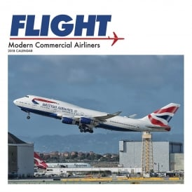 Flight - Modern Commercial Airliners Calendar 2018