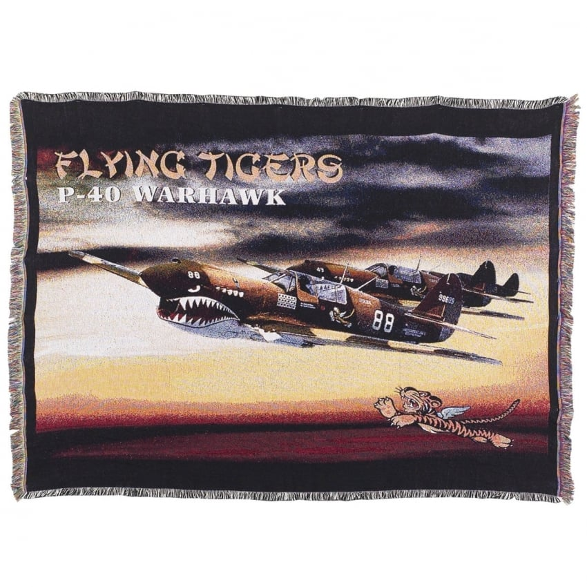 Flying Tigers P-40 Warhawk Throw
