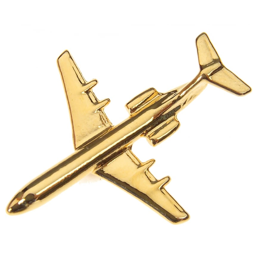 Fokker 100 Boxed Pin - Gold