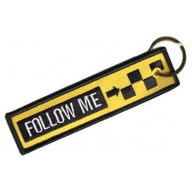 Follow Me RBF Embroidered Keyring
