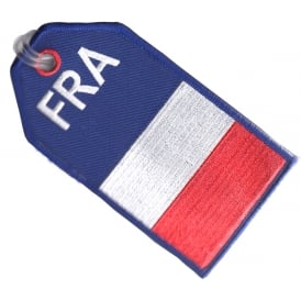 France Flag Embroidered Baggage Tag