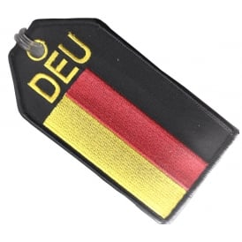 Germany Flag Embroidered Baggage Tag