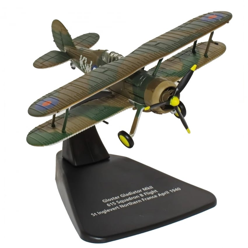 Gloaster Gladiator MKII Diecast Model - Scale 1:72