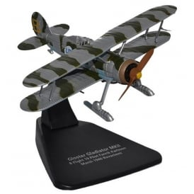 Gloster Gladiator with Skis Diecast Model 1:72