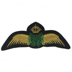 Gold Pilot Wings Iron On Patch