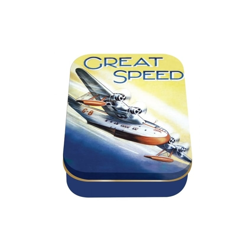 Great Speed Sea plane Collector Tin