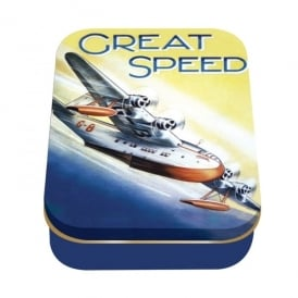 Half Moon Bay Great Speed Sea plane Collector Tin