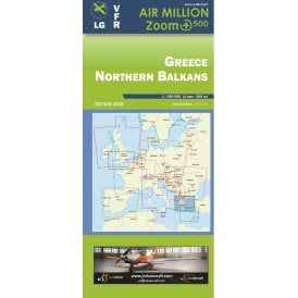 Greece Northern Balkans VFR 1:500,000 Chart - 2017