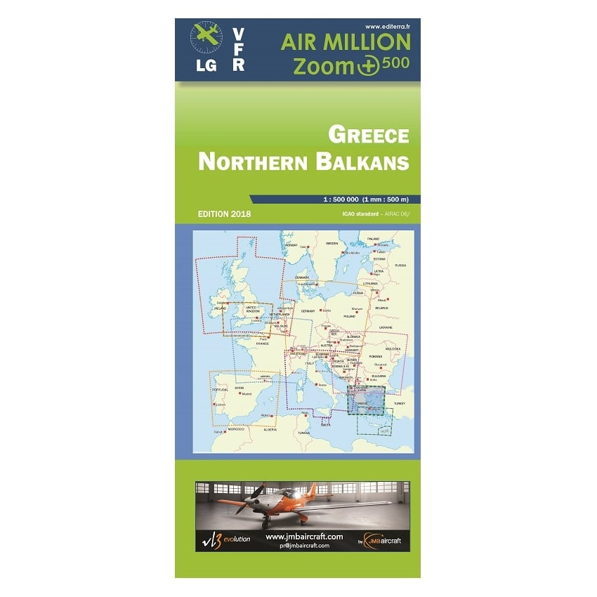 Greece Northern Balkans VFR 1:500,000 Chart - 2018