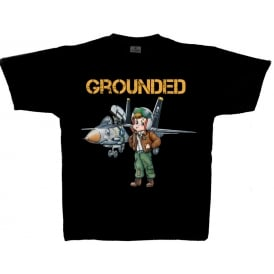 Grounded F14 Tomcat Youth T-Shirt in Black
