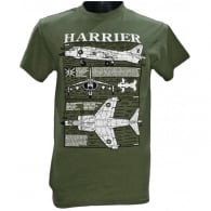 Harrier Plan Motif T-Shirt