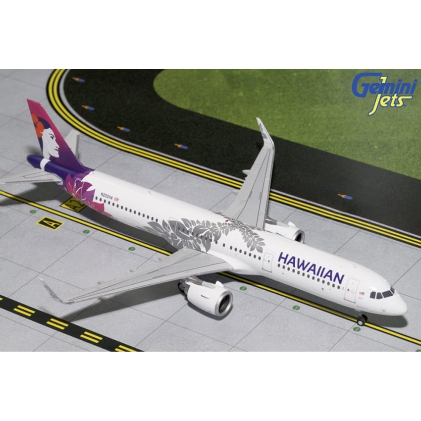 Hawaiian Airbus A321neo Diecast Model - Scale 1:200
