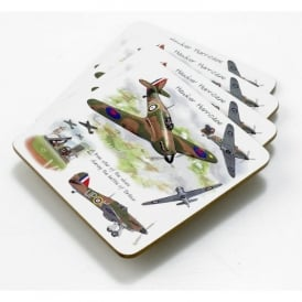 Little Snoring Hawker Hurricane Coaster Set of 4