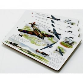 Little Snoring Hawker Hurricane Placemat Set of 4