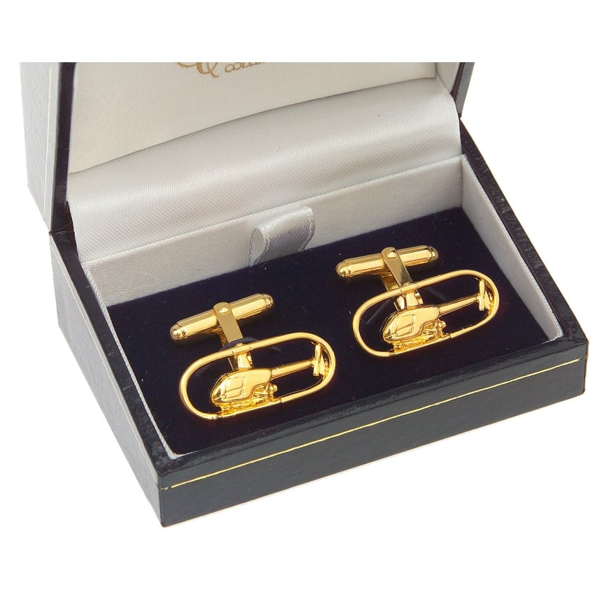 Helicopter Cufflinks - Gold Plated