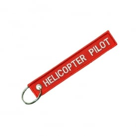 Helicopter Pilot Embroidered Keyring