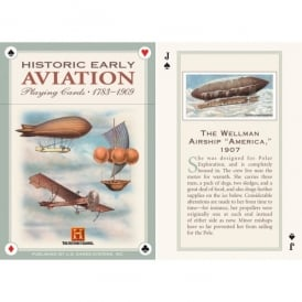 Gifts For Aviators Historical Early Oversized Aviation Playing Cards