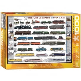 History Of Trains 1000 Piece Jigsaw