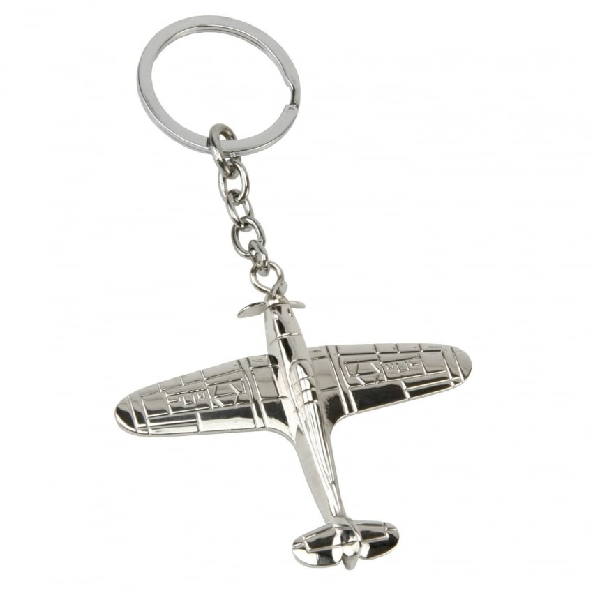 Hurricane Silver Plated Keyring