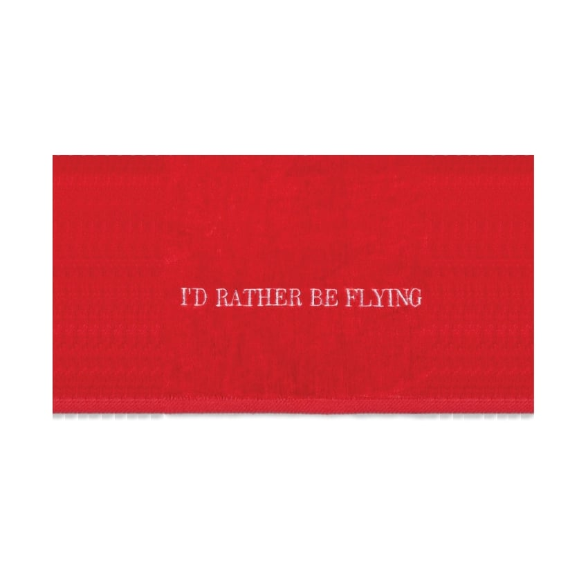 I'd Rather Be Flying Beach Towel - Red
