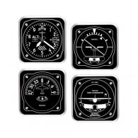 Instrument 1949 Black and White Coaster Set of 4