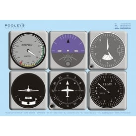 Pooleys Instrument Panel Poster