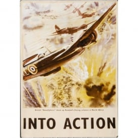 Gifts For Aviators Into Action Beaufighter Tin Sign