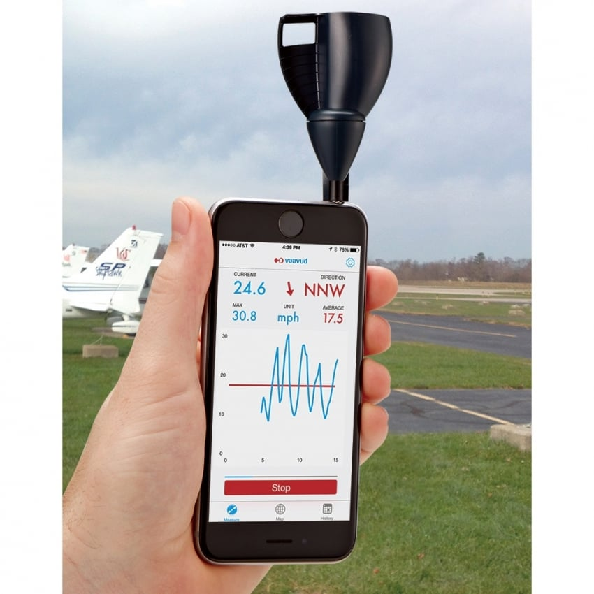 iPad and iPhone Smartphone Wind Meter