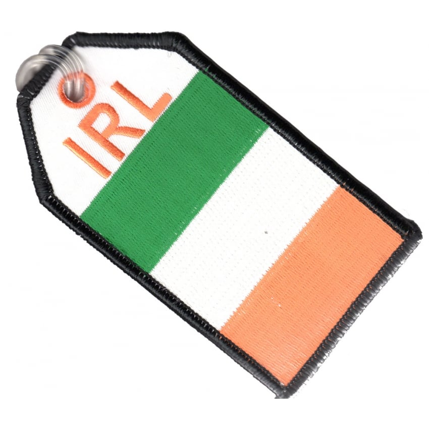 Ireland Flag Embroidered Baggage Tag