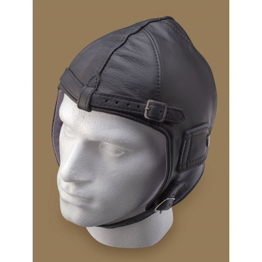 Leather Pilot Helmet - Brown