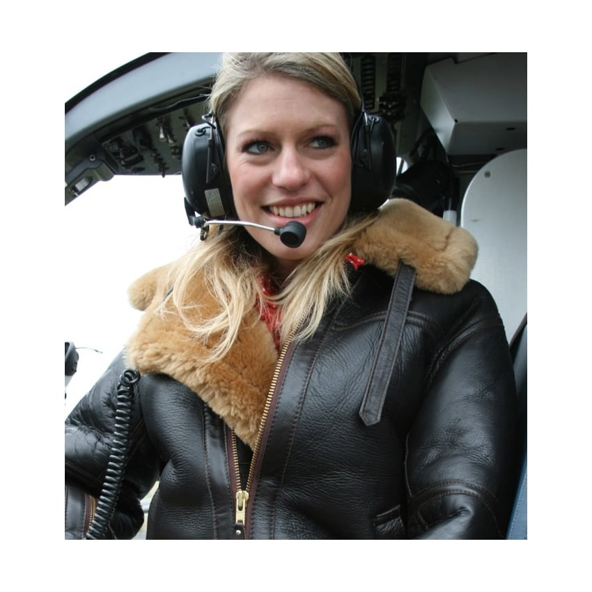 RAF Ladies Leather Sheepskin Flying Jacket
