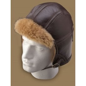 Irvin Sheepskin Pilot Helmet - Brown