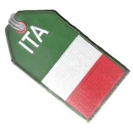 Italy Flag Embroidered Baggage Tag