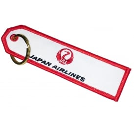 Japan Airlines Embroidered Keyring