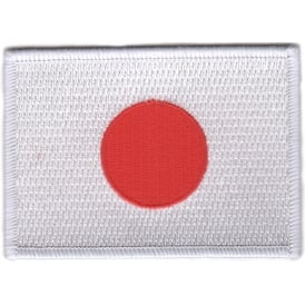 Japan Flag Iron on Patch