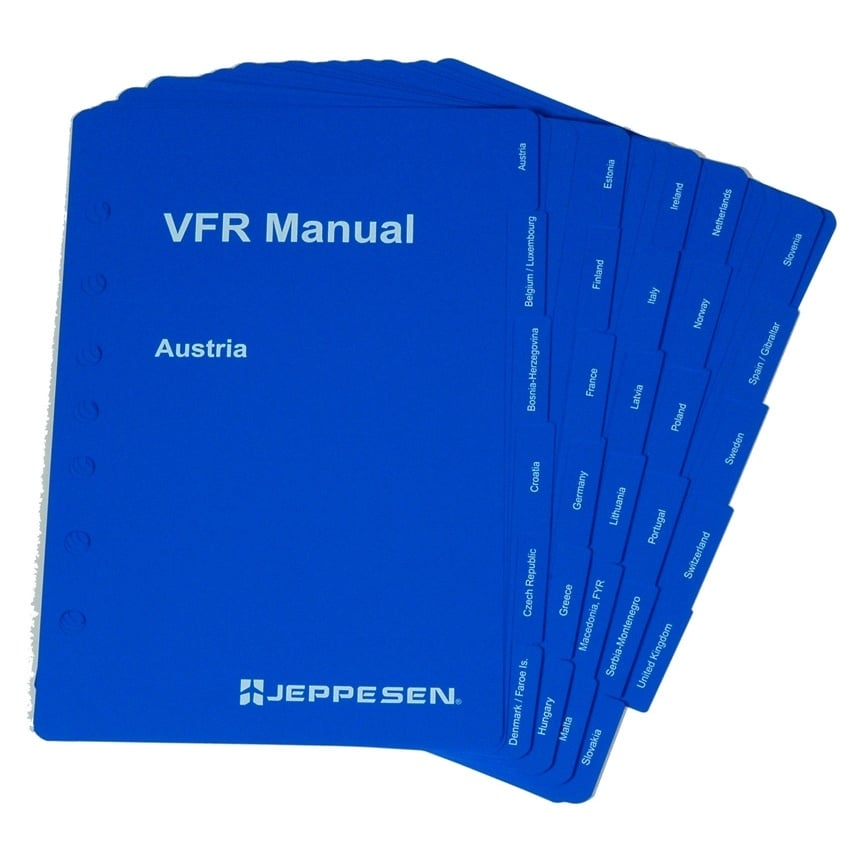 VFR Manual Country Tabs Inserts