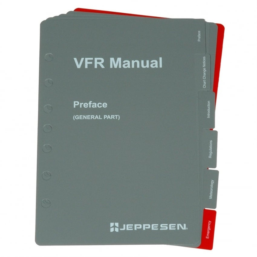 VFR Manual Sectional Tab Inserts