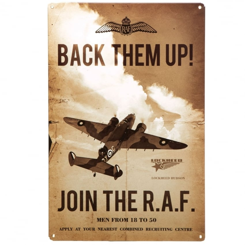 Join The RAF Tin Aviation Sign