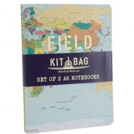 CGB Giftware Kitbag Set of 2 Field Notes A6 Notebooks