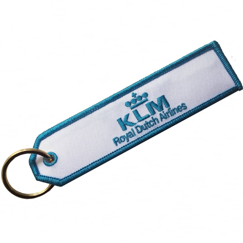 KLM Embroidered Keyring